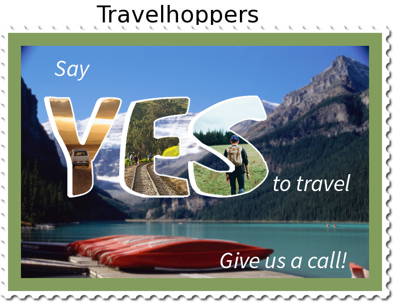 Say yes to travel graphic with kayaks